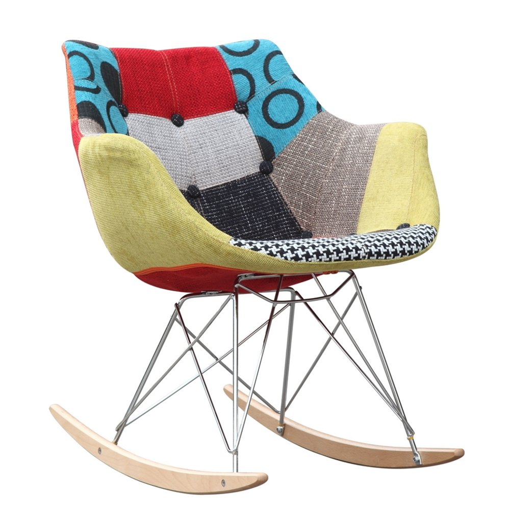 Amazon Fine Mod Imports FMI10099 Colored Ginger Rocker Arm Chair Kitchen Dining