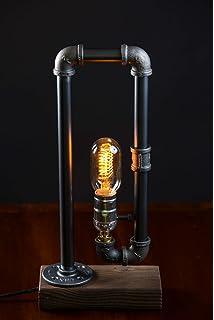 Amazon.com: Decoluce Vintage Industrial Table Pipe Desk Lamp ...