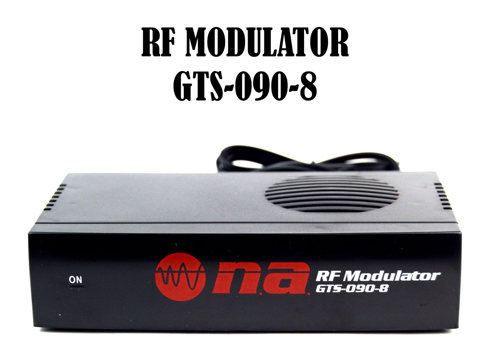 Universal RF Modulator RCA Audio Video to Coaxial Coax F-Type With S Video GTS-090-8