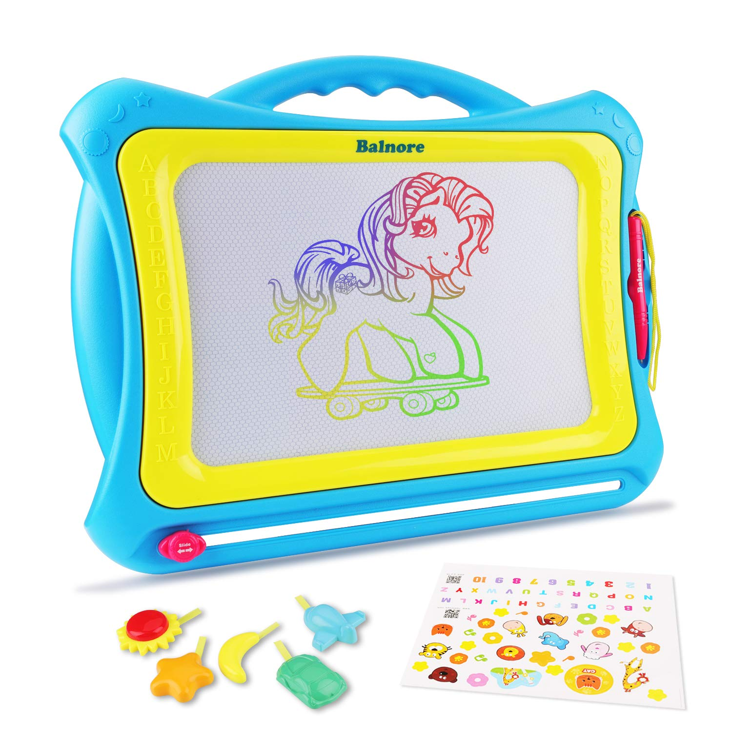Bloranda Magnetic Drawing Board Multi-Colors Doodle Board Write and Learn Creative Toy 606015456711