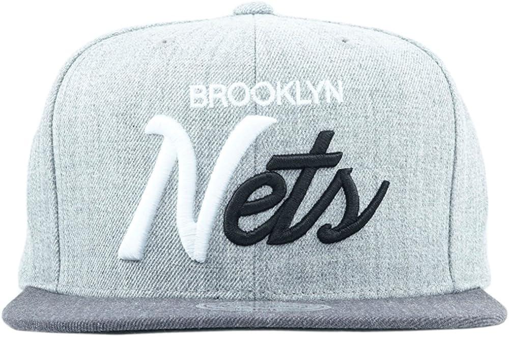 Mitchell /& Ness Brooklyn Nets Tri Pop Special Grey Snapback Adjustable.