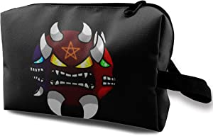 Others Geometry Dash Toiletry Bag Multifunction Cosmetic Bag Portable Pouch for Travel Organizer Bag