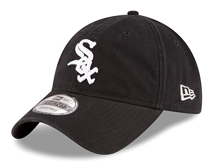 official photos b714c 657ce New Era Chicago White Sox MLB Adjustable 9Twenty Hat Black White