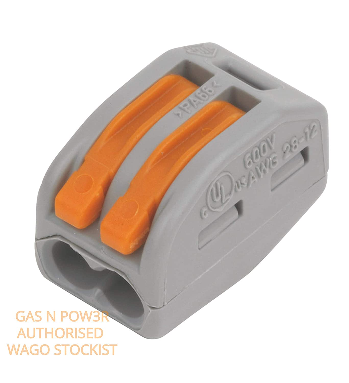 WAGO 221-412 Splicing Connector 2 Conductors 0.14-4 mm/² Compact Design with Lever by Gas N Pow3r x300