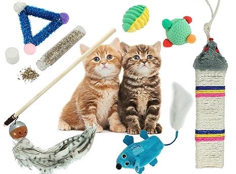 BPS® Pack de Juguete para Gatos Gatitos Mascotas Animales Domésticos Incluido Hierba Gatera (Catnip