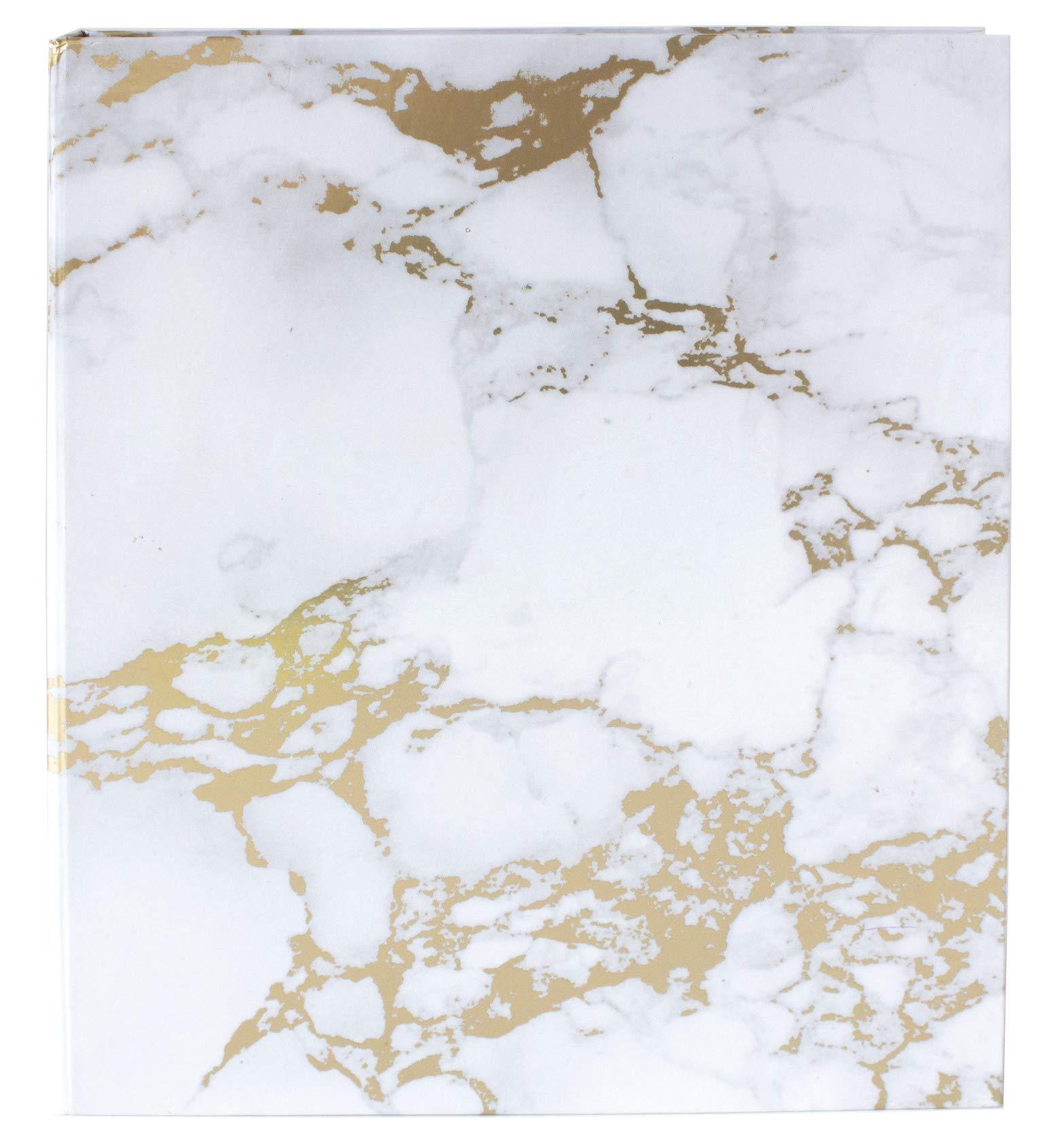 bloom daily planners Binder (+) 3 Ring Binder (+) 1 Inch Ring (+) 10'' x 11.5'' - Gold Marble by bloom daily planners