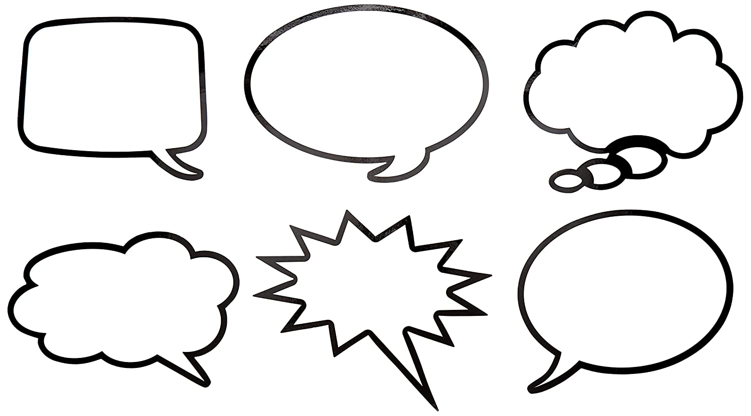 Roylco R49621 Roylco Laminated Speech Bubbles, Grade: Kindergarten to 3:  Amazon.co.uk: Welcome