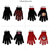 Nickelodeon Assorted Characters 4 Pair Gloves or