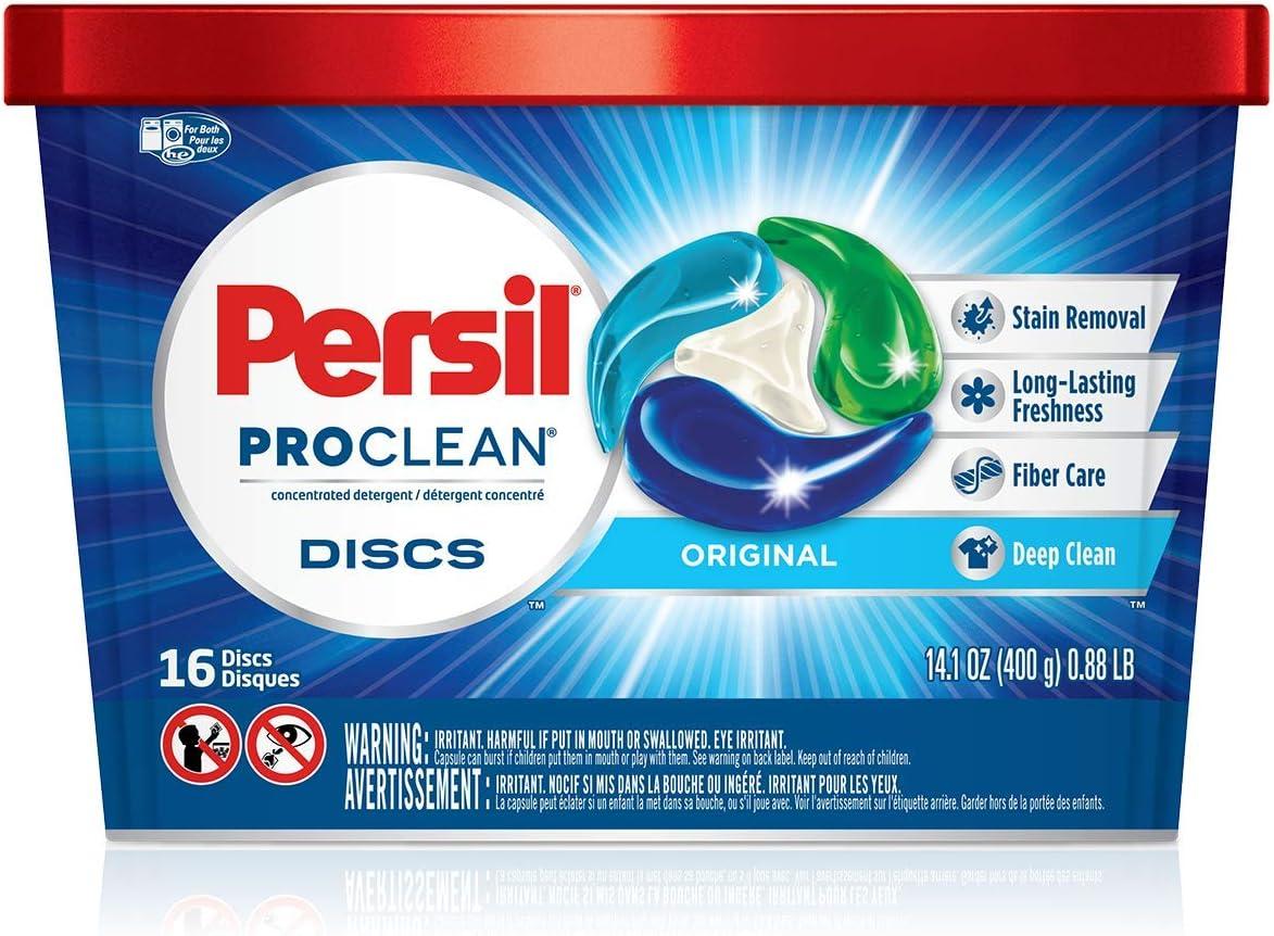 Persil ProClean Discs Laundry Detergent, Original, 16 Count