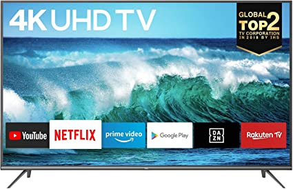 TCL 43EP640, Televisor 108 cm (43 pulgadas), Smart TV con Resolución 4K, HDR10, Micro Dimming Pro, Android TV, Alexa, Google Assistant, Multicolor [Clase de eficiencia energética A]: Amazon.es: Electrónica