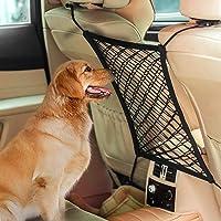AUTOWN Car Dog Barrier, Auto Seat Net Organizer, Universal Stretchy Car Seat Storage Mesh &…