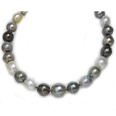 01cc68b48f693 Amazon.com: Tahitian South Sea Baroque Pearl Necklace 20 - 15 mm ...