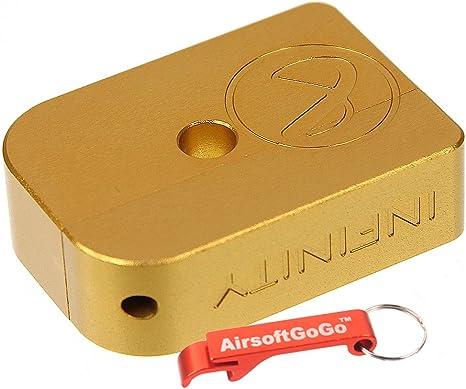 Gold AIP CNC Infinity Aluminium Magazine Base For Marui Hi-Capa GBB