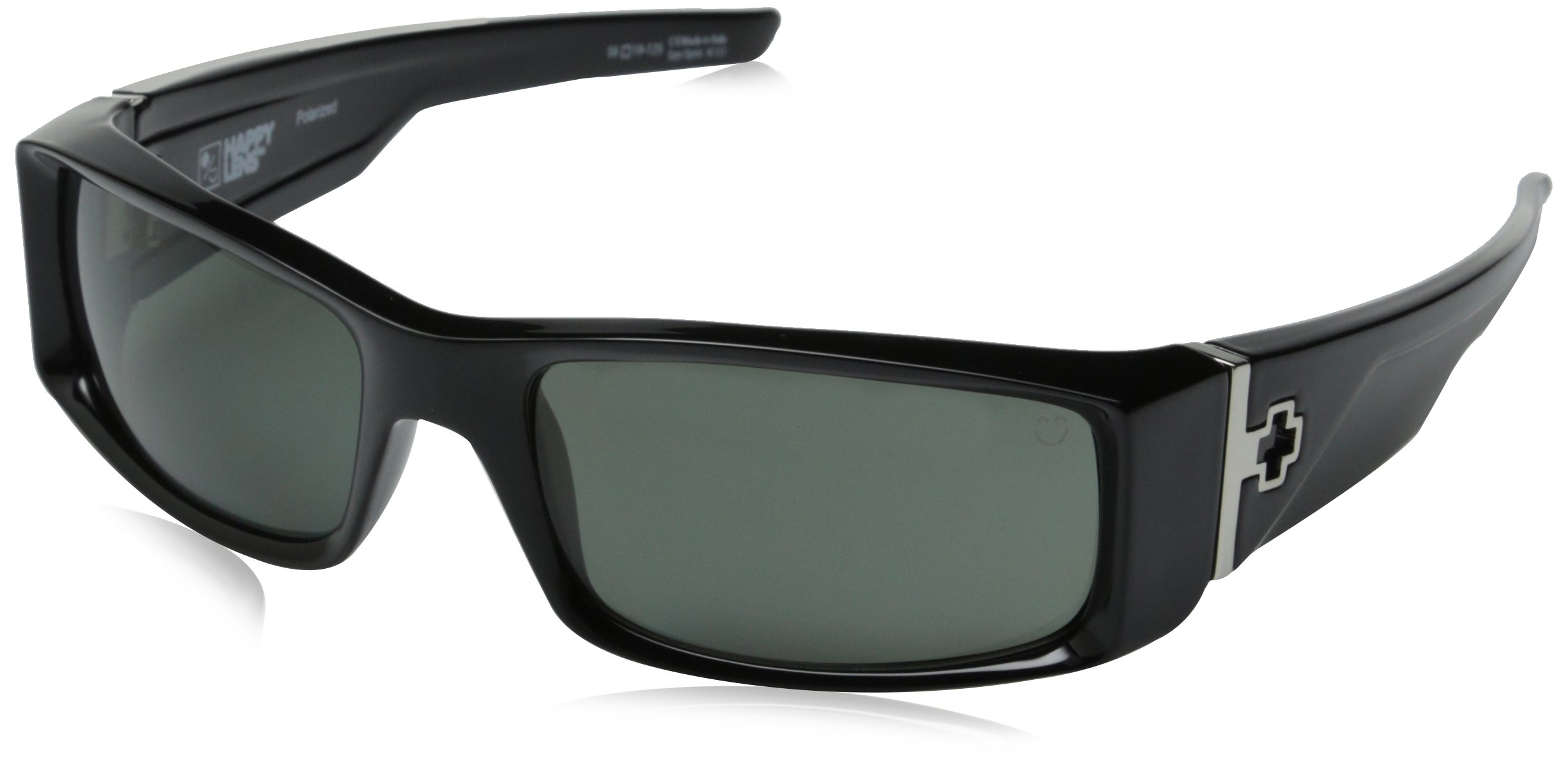 Spy Optic Hielo 670375038864 Polarized Flat Sunglasses, 56 mm (Black/Happy Gray/Green Polar)