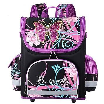 Colegio mochila adolescente niña,mochila para niñas de la escuela primaria Mochilas adolescentes mochilas grandes para niños - negro: Amazon.es: Equipaje