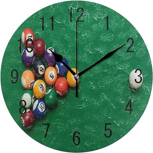 Use7 - Reloj de Pared de acrílico con diseño de Billar Americano ...