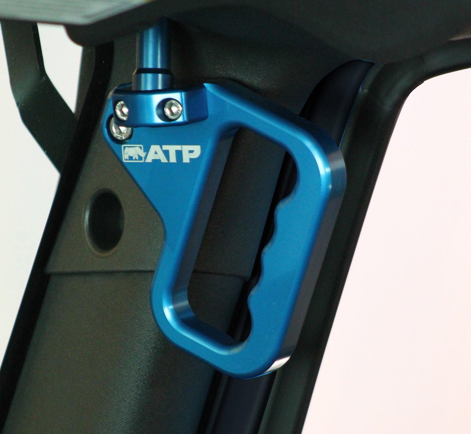 ATP 36070013B Billet Front Grab Handles Blue Jeep Wrangler JK 07-17 by ATP (Image #1)