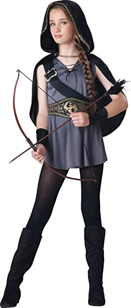 InCharacter Big Girlsu0027 Hooded Huntress Costume ...  sc 1 st  Amazon.com & Amazon.com: InCharacter Costumes Tween Kids Hooded Huntress Costume ...