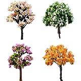 Helper007 Miniature Plants Tree Fairy Garden Ornament Pot Decoration 1 Piece Happy Tree