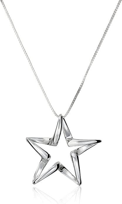 Custom Sizes Gift Box Sterling Silver Chain Necklace for Women Sparkly Twist