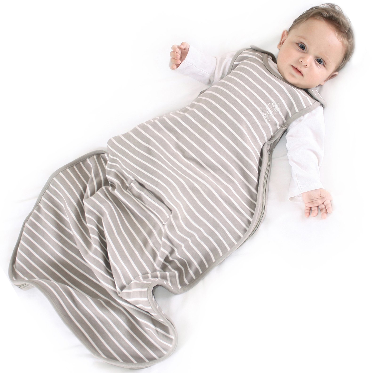 Woolino Baby Sleep Sack Bag from, 4 Season, Merino Wool, 2 Months to 2 Year, Earth