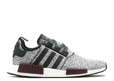 810c677849915 Amazon.com | adidas Men's Originals NMD R1 Black/Black/Purple Mesh ...