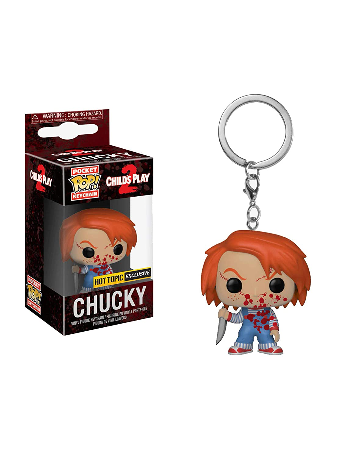 Amazon.com: POP! Funko Childs Play 2 Pocket Chucky Key ...