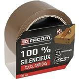 FACOM 84481 Adhésif d'emballage 50 m x 48 mm silencieux, Havane