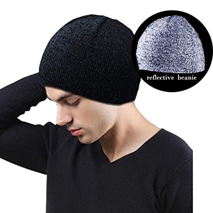 Amazon.com   Men Reflective Beanie Hats 47a8989a4a9
