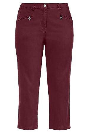 49066db4fb Ulla Popken Women's Plus Size Mony Stretch Capri Pants 717748 at Amazon  Women's Clothing store: