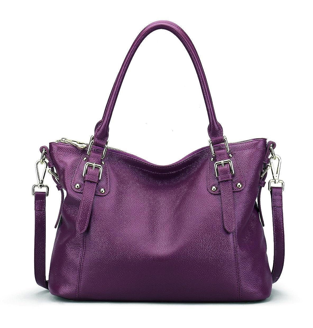 7535713d3e2 Amazon.com  BIG SALE-AINIMOER Women s Large Leather Vintage Shoulder Bags  Handbags Ladies Top handle Purse Cross Body Bag  Shoes
