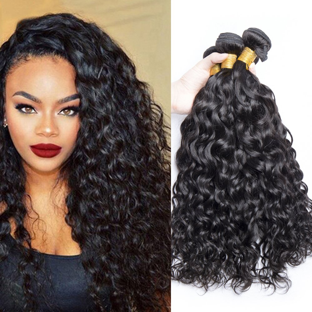 Amazon Ali Moda Hair 3 Bundles Malaysian Ocean Wave Wet And