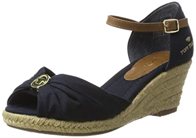 size 40 e3a36 ed063 TOM TAILOR 2790907, Women's Ankle Strap Wedges