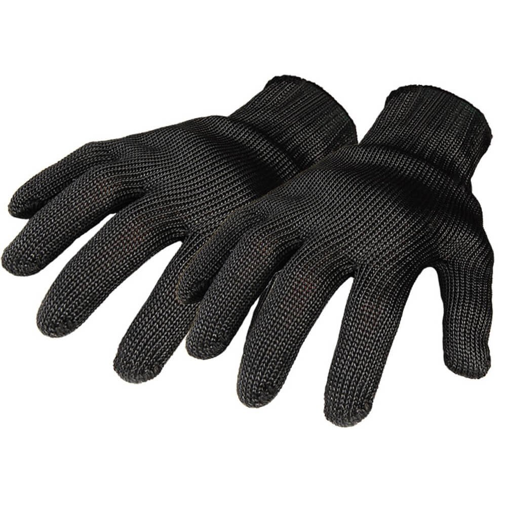 Knife Proof Stainless Steel Wire Mesh Protection Gloves Kitchen Tactical Cut Resistant Gloves, 2 Pairs