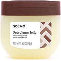 Amazon Brand - Solimo Petroleum Jelly with Cocoa Butter, 7.5 Ounce