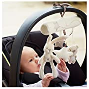 Myhouse Lovely Rabbit Baby Music Hanging Toys Spiral Activity Hanging Toys Stroller Baby Plush Toys