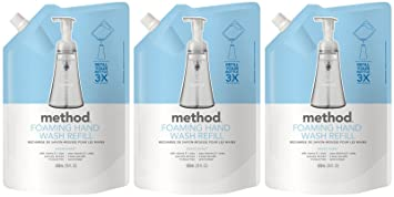 cd2c2154ab79 Method Foaming Hand Wash Refill Pouch, Sweet Water, 28oz, 3pk