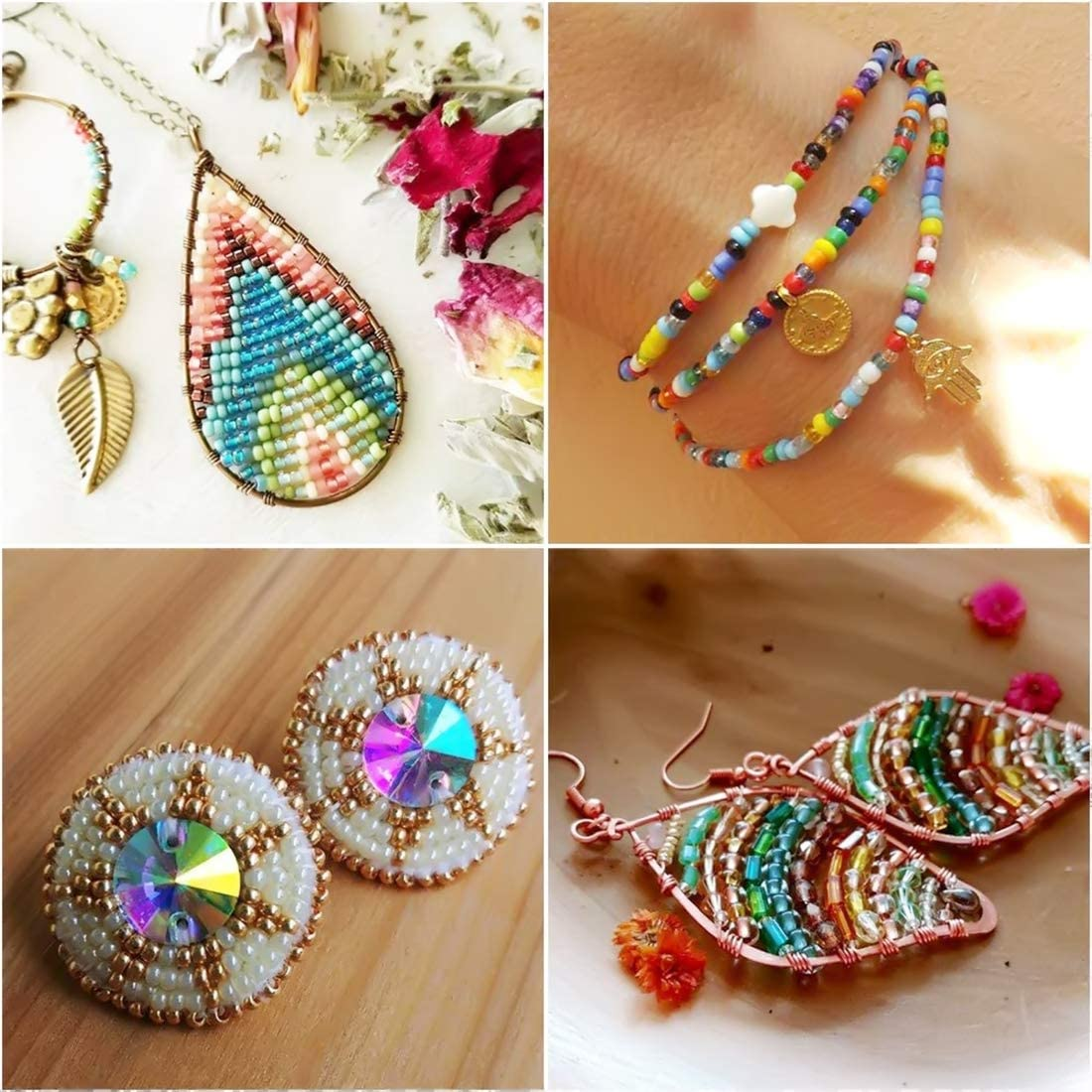 100 Perles R\u00e9sine \u0152il Mauvais Ray\u00e9s multicolore 10 mm
