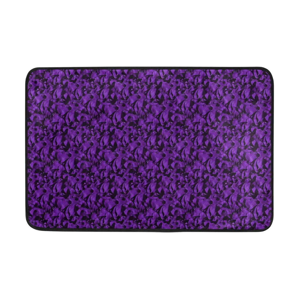 ALAZA Aero Colorful Purple Doormat Indoor/Outdoor Washable Garden Office Door Mat,Kitchen Dining Living Hallway Bathroom Pet Entry Rugs with Non Slip Backing by ALAZA