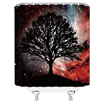 Outer Space Shower Curtain Eternity Fantasy Print for Bathroom
