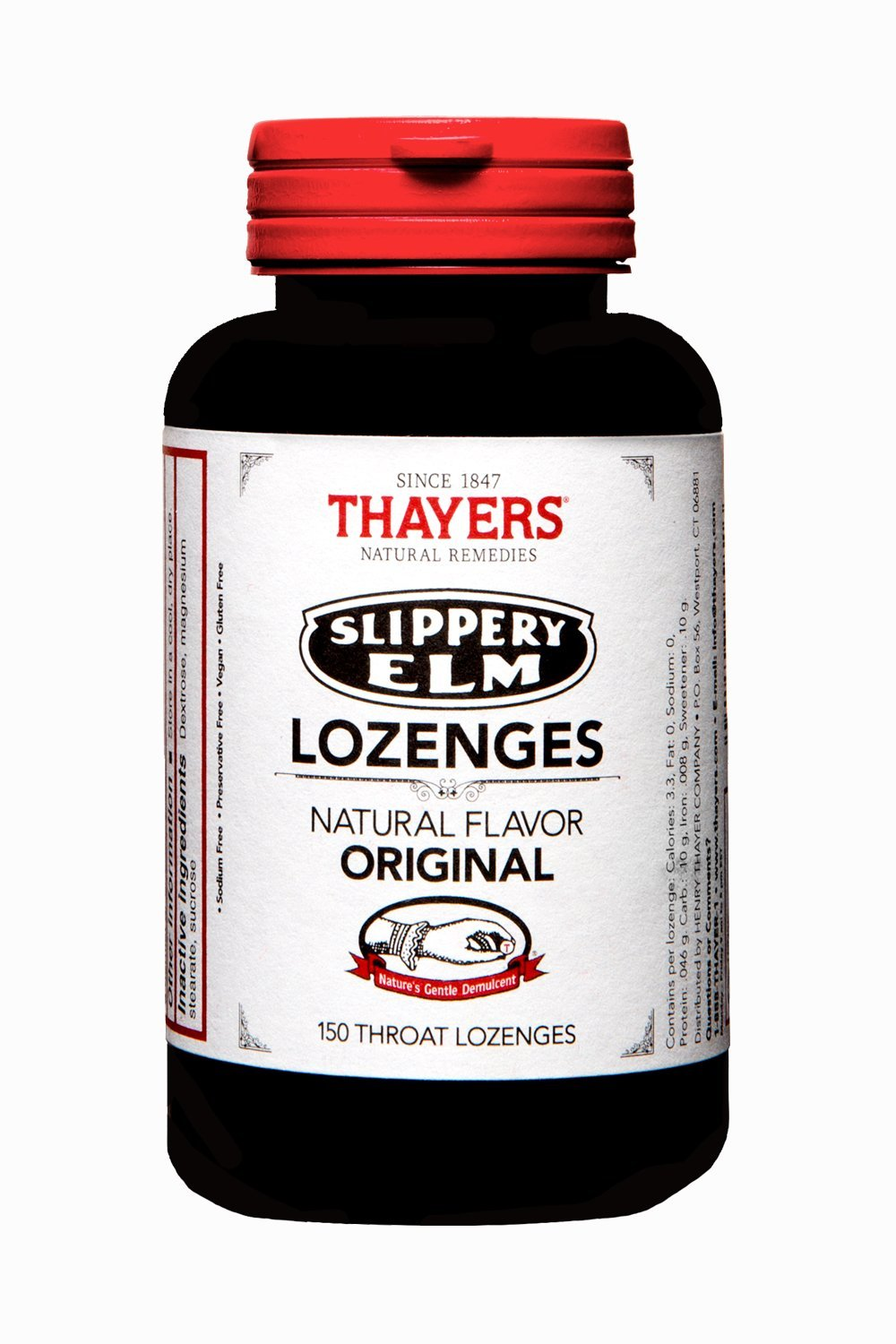 Slippery Elm Original 150 Lozenges by THAYERS