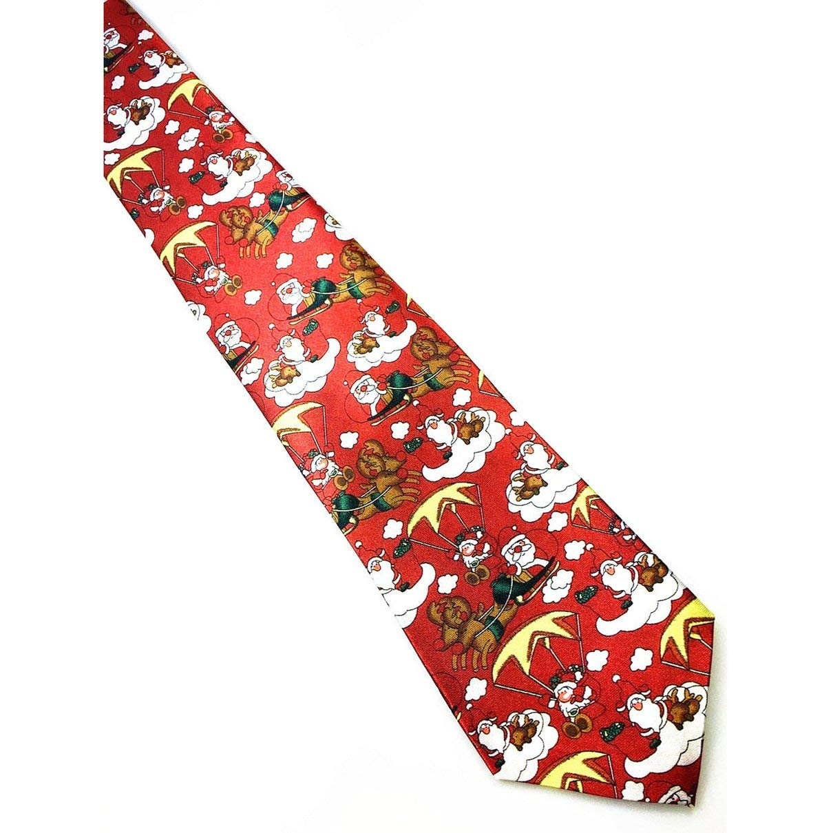 Print Christmas Tie Mens Fashion Silk Neckties Festival Tie Soft Character Necktie Gift