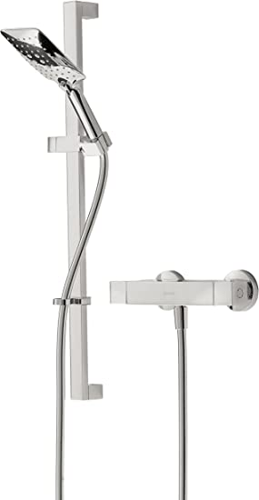 Bristan Vr Shxmtff C Vertico Thermostatic Bar Shower Complete With Adjustable Riser And Multi Function Handset Chrome Amazon Co Uk Diy Tools