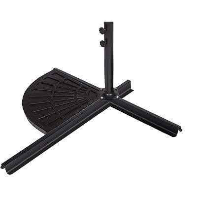 Trademark Innovations Resin Umbrella Base Weight for Offset Umbrella - 26lbs : Garden & Outdoor