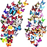 Wall Decal Butterfly 80 PCS Wall Sticker Decals 3D Butterfly Stickers for Room Home Nursery Decor