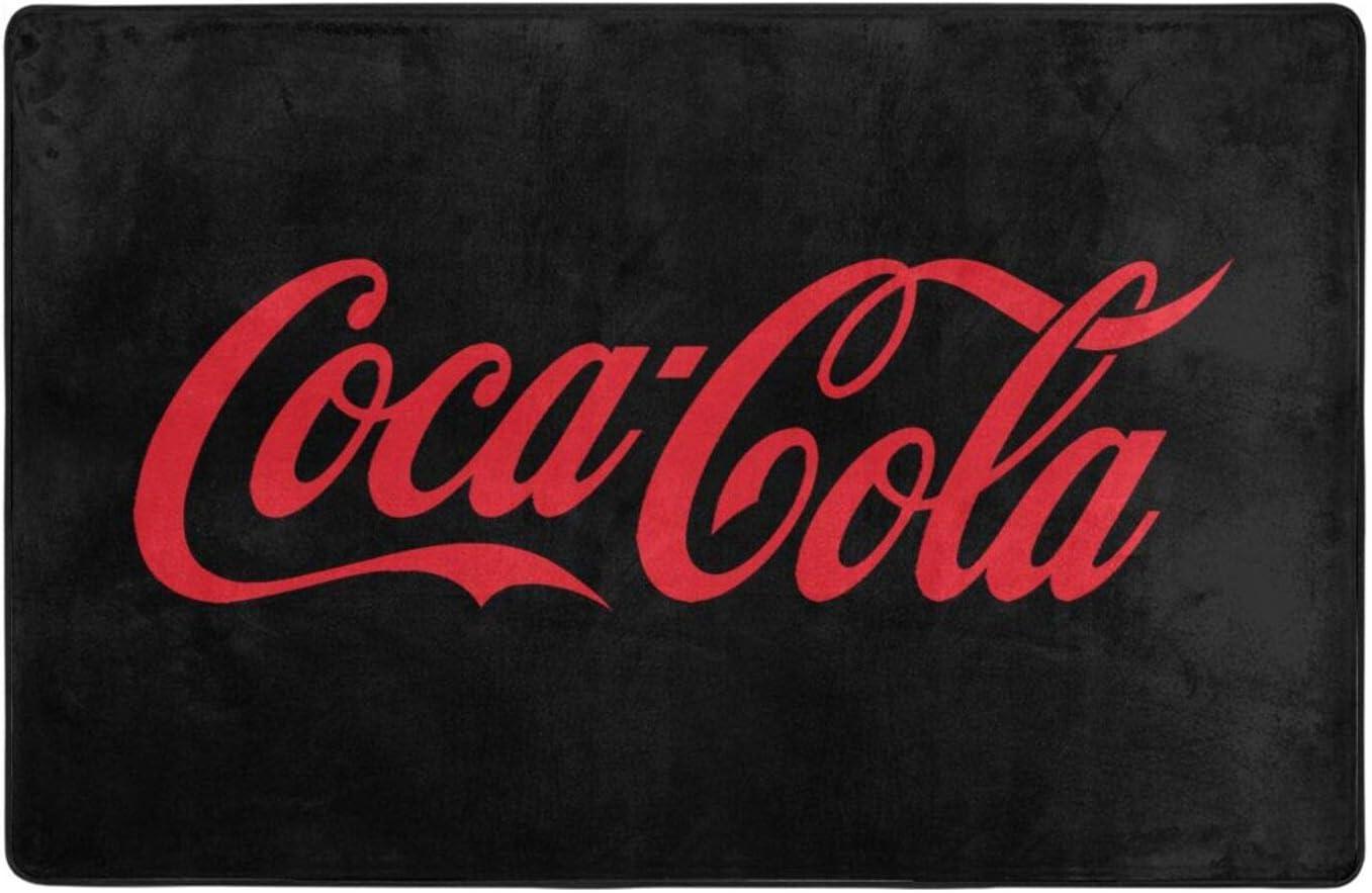 asdsada Coca-Cola Decor Non-Slip Indoor Floor Mat Game Video Gaming Pattern Large Area Rug Runner Carpet 60 X 39Inch