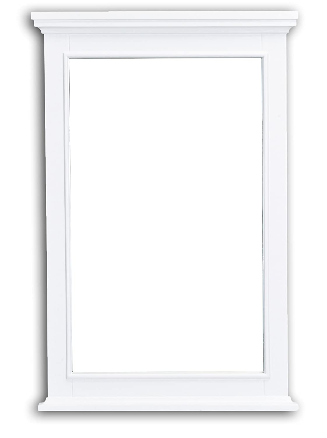 Eviva EVMR709-24WH Elite Stamford White Full Framed Bathroom Vanity Mirror Combination