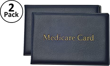 Amazon.com: Medicare Protector de tarjeta con 2 transparente ...