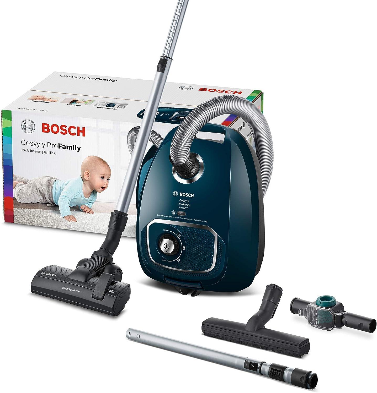 Bosch Hausgeräte Cosyyy Pro Family Aspirador con Bolsa, 700 W, 69 Decibeles, plástico, Deep Petrol: Amazon.es: Hogar