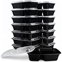 KICHEIF 15-Pack 34oz Meal Prep Containers with Lids